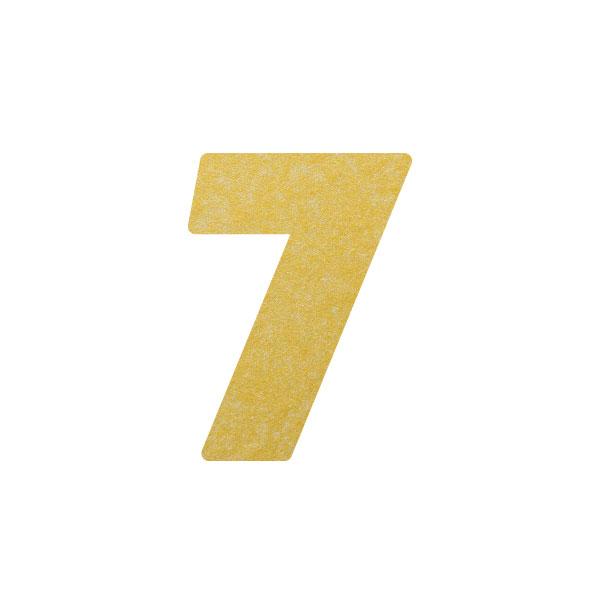 No.395ボードネームカードDC 数字7ゴールド