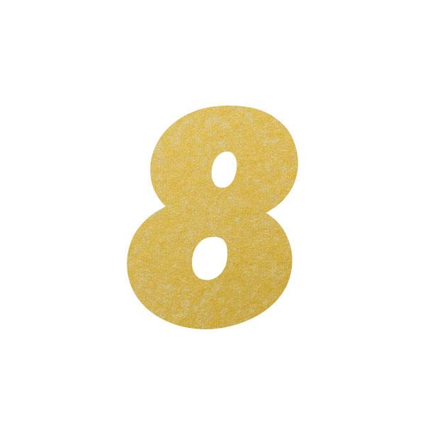 No.395ボードネームカードDC 数字8ゴールド