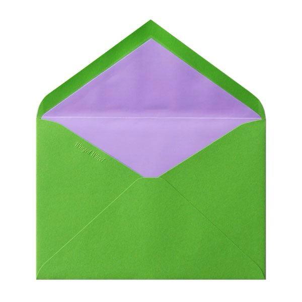 No.50 コットン洋2二重封筒 黄緑