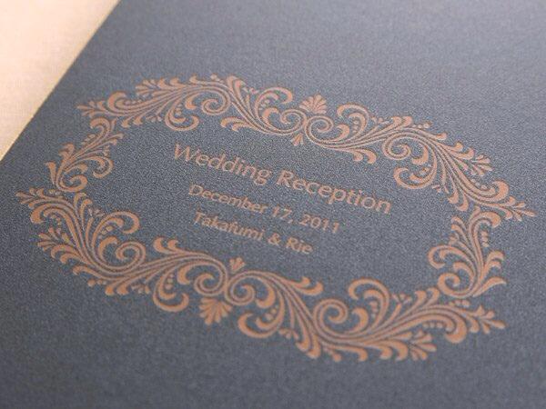 デザインSW152・活版印刷×コットンパール ミッドナイトブルー(タカ様)