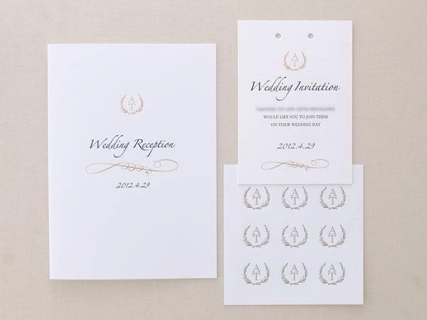 海外の招待状をイメージ(お客様のデザイン)