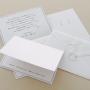 招待状セット・A01 No.560 HIKARI スノーホワイト(6点)