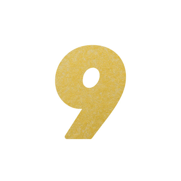 No.395ボードネームカードDC 数字9ゴールド