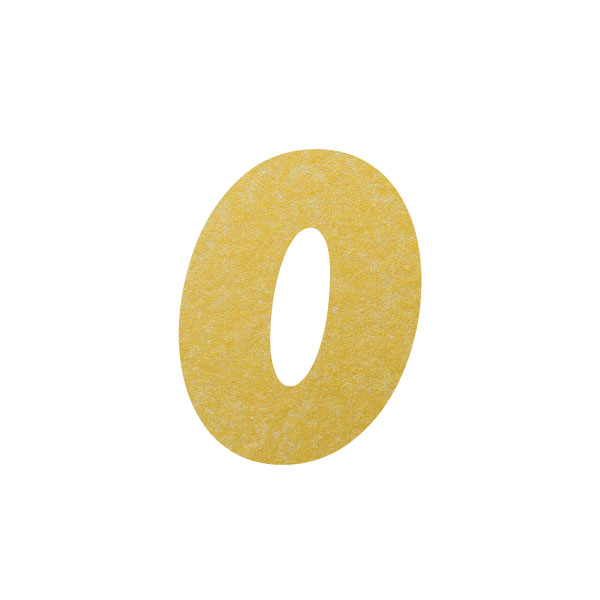 No.395ボードネームカードDC 数字0ゴールド