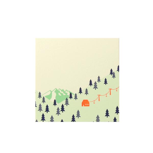 No.710 雪山カードA 100×100
