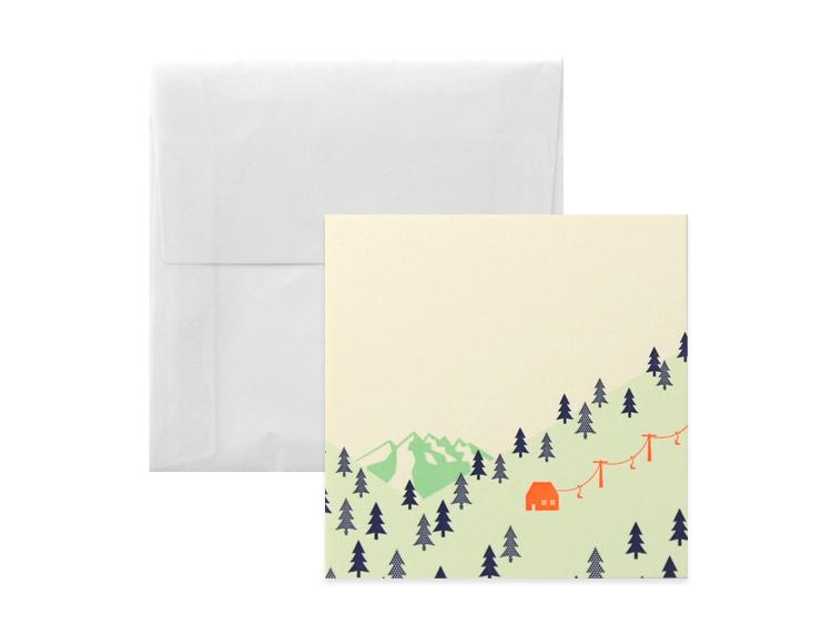 No.710 雪山カードA