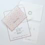 招待状セット No.898 Rhythm pink(リズム ピンク)(6点)