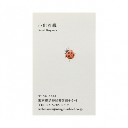 No.700てんとう虫  の名刺