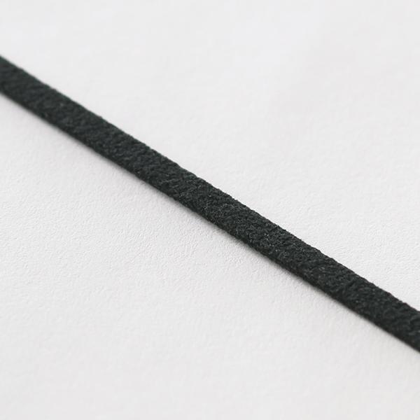 スエードテープ 3mm幅 ブラック 1m