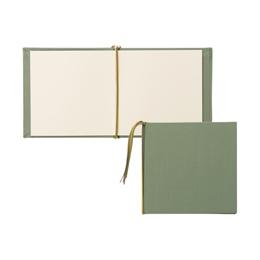 芳名帳カバーセット 140×140 クロス モスグリーン