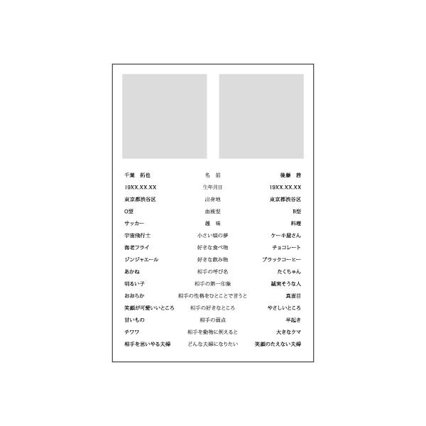 プロフィール 100×148カード