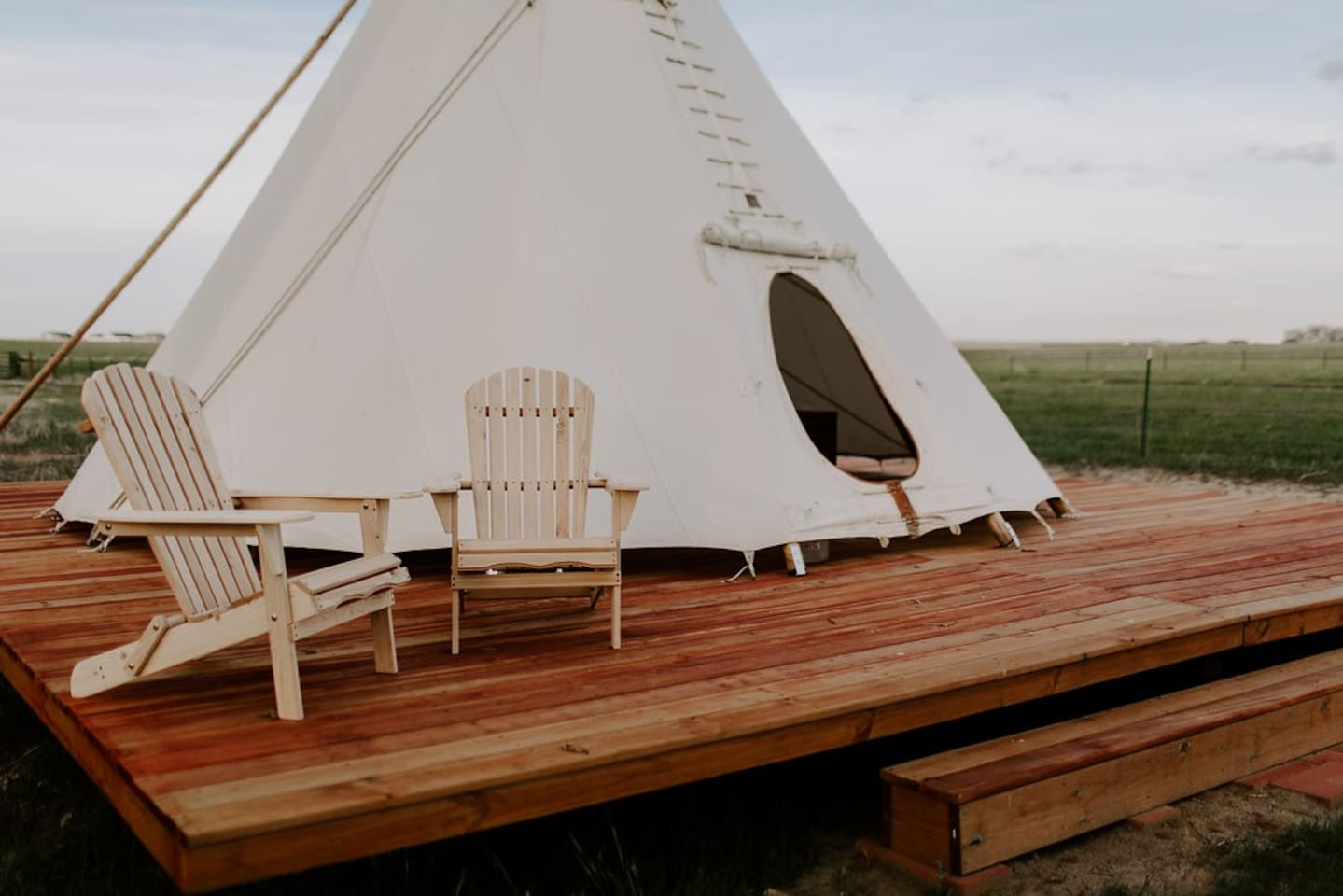 Book Creekside Glamping Teepee on Colorado Horse Ranch at