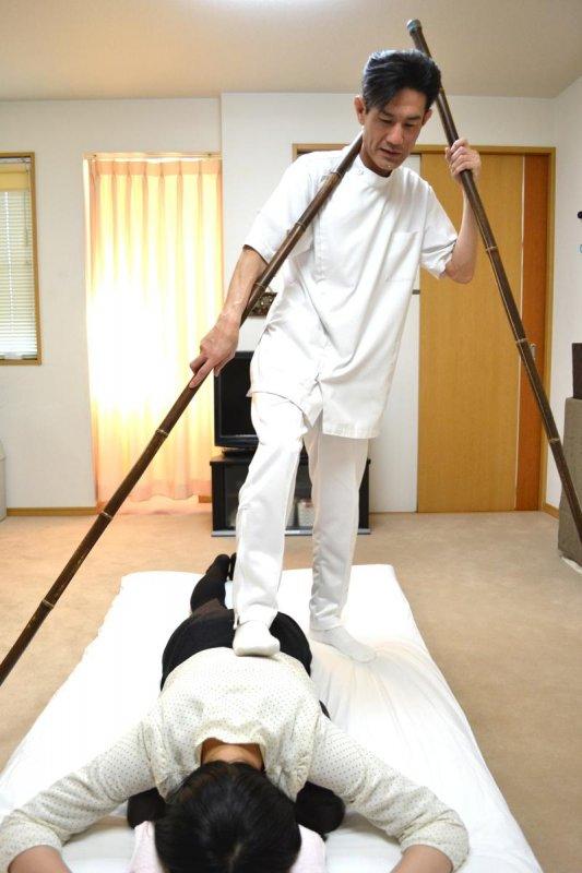 足圧療法のイメージ