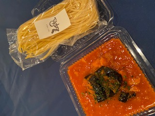 茄子とパンチェッタのアマトリーチェのイメージ