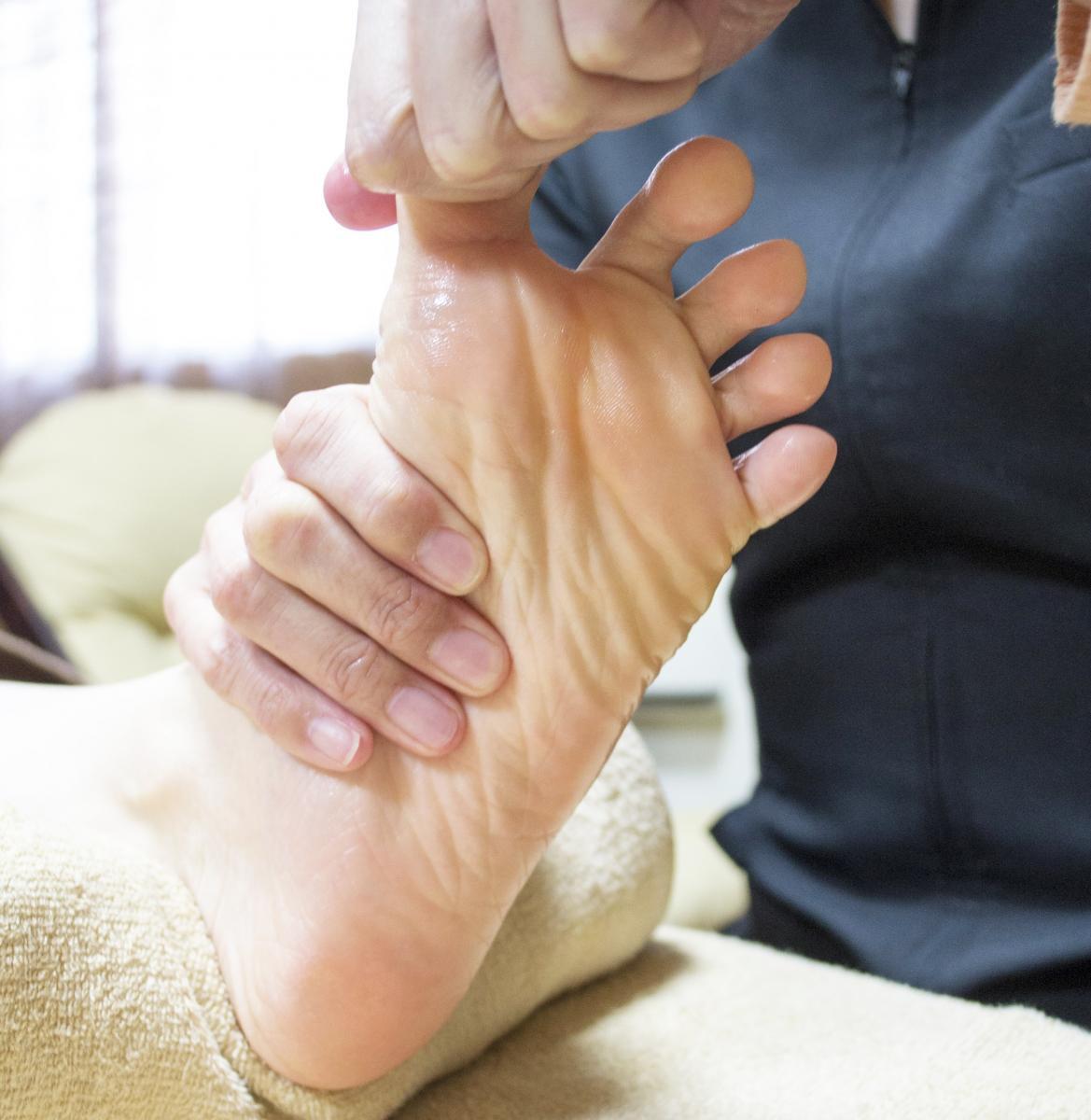 足指の施術