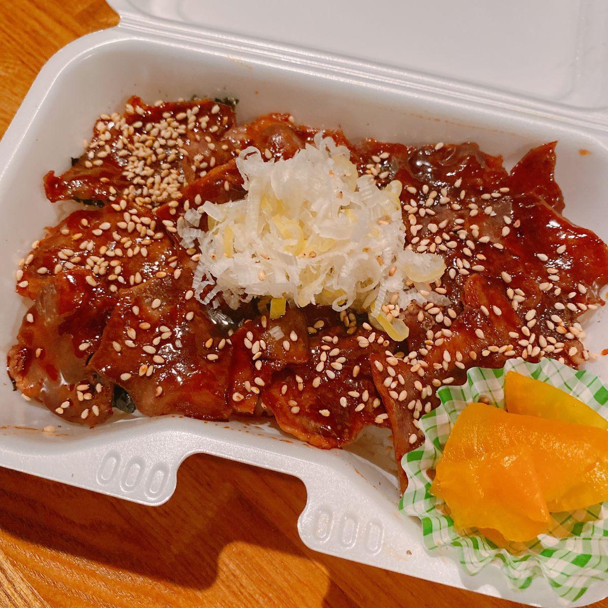 【夜弁当】タン焼き丼(たれ/にんにく醤油) のイメージ