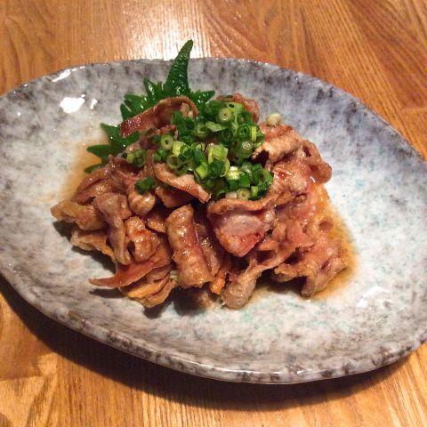 【肴】鶏皮おろしポン酢のイメージ