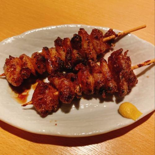 【串】鶏かわ(塩/たれ/にんにく醤油)のイメージ