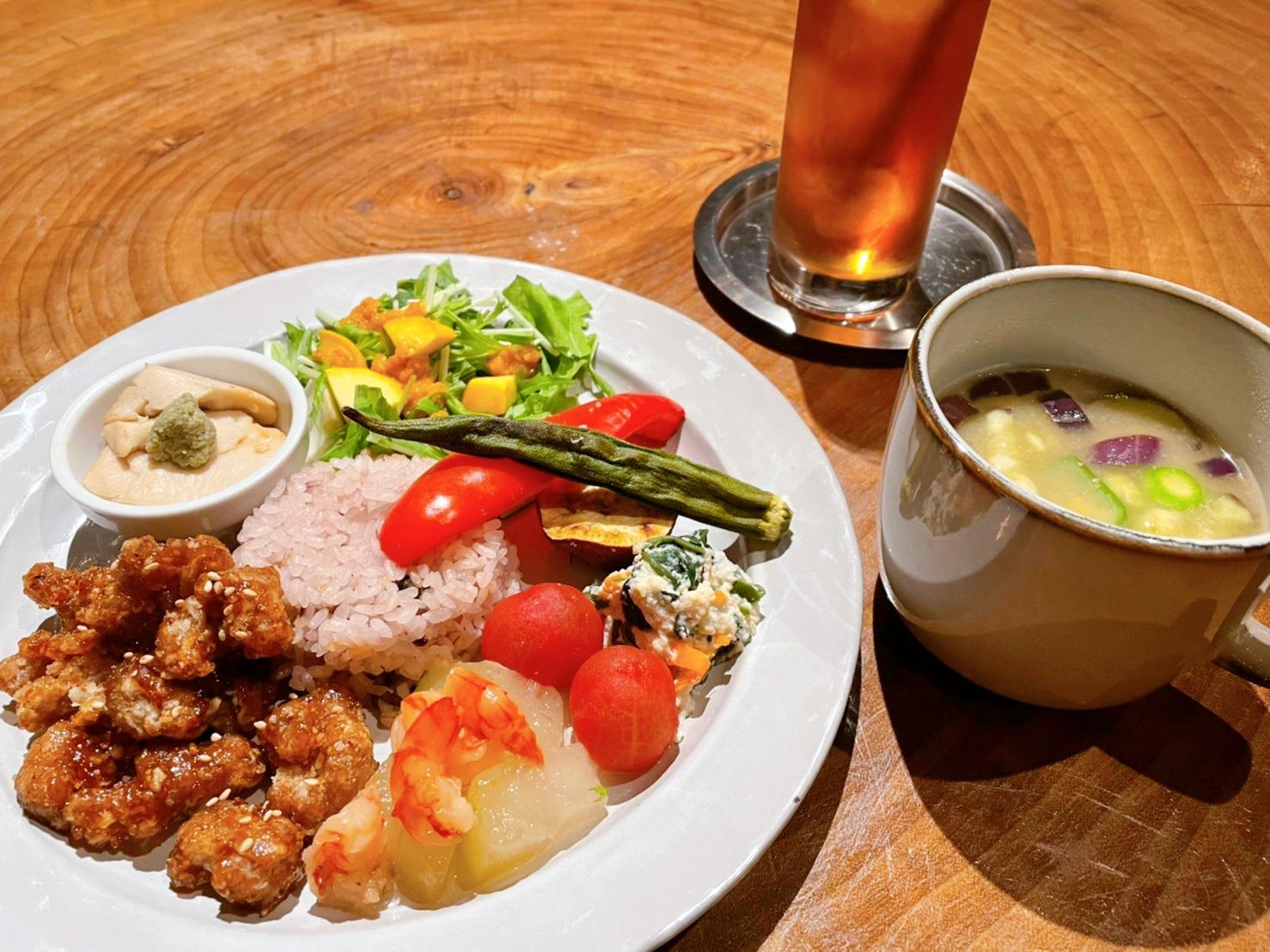【限定10食】照り焼き大豆ミートとお野菜のプレート(ドリンク付き)