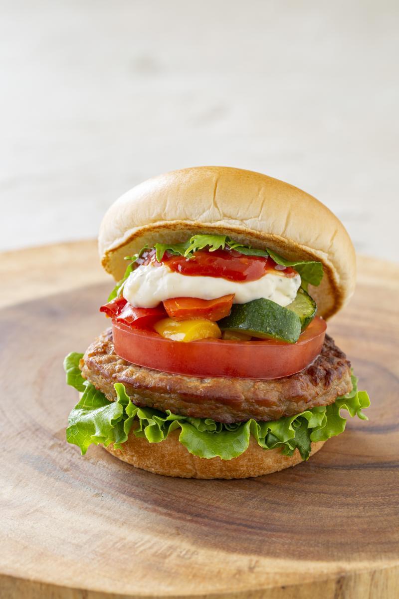 彩り野菜バーガー(ポテト付き)のイメージ