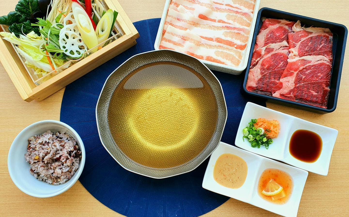 【平日限定ランチ】お肉2皿(アンガス牛・三元豚)セットのイメージ