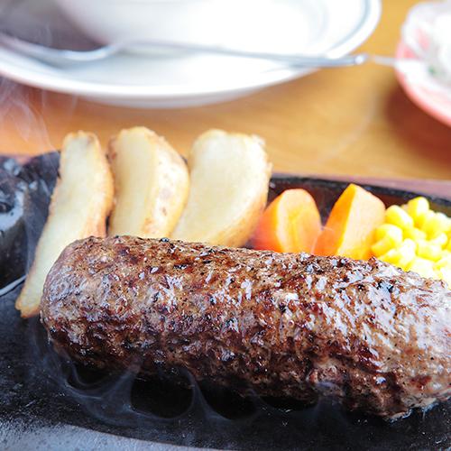 炭焼き粗挽きビーフハンバーグランチのイメージ