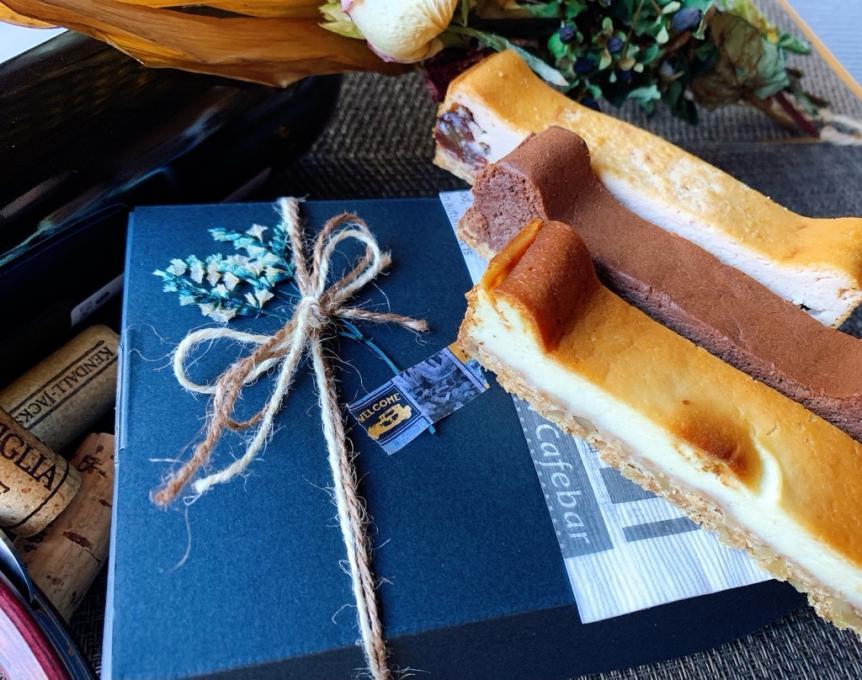 ワインと楽しむ手づくりチーズケーキ3種セット1300円税込のイメージ