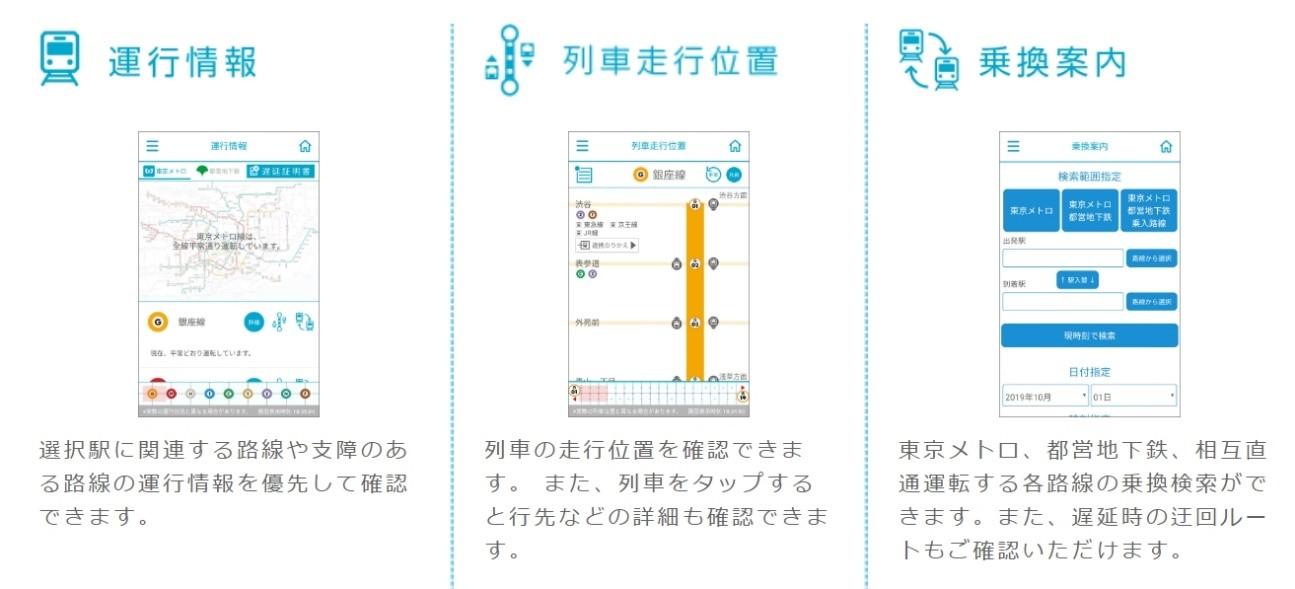 東京メトロアプリ - TokyoMetroApp -