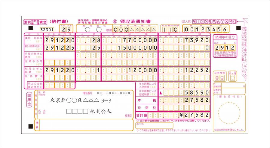 0円 書き方 所得税徴収高計算書