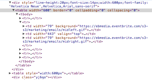 HTMLメールのソース
