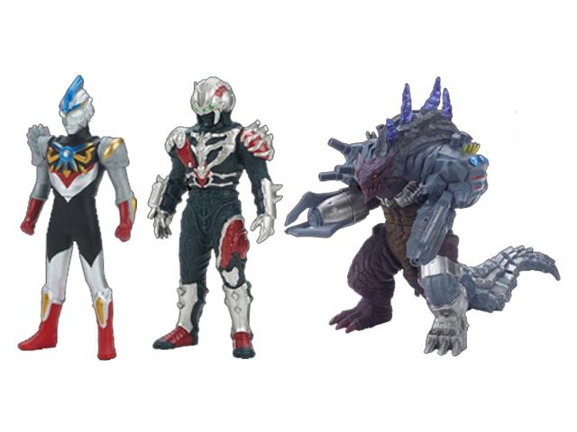 ウルトラソフビ3体セット(ウルトラ怪獣DX サデス、ウルトラ怪獣DX デアボリック、ウルトラヒーローオーブ 06 ウルトラマンオーブ(オーブトリニティ))