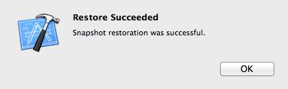 Xcode_Restore_Snapshot_Succeeded