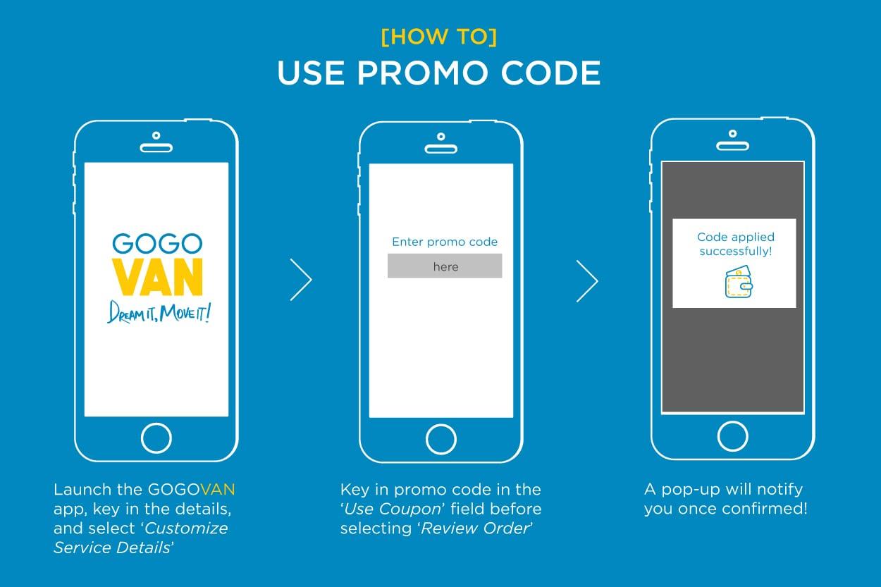 How to use a promo code? | GOGOVAN Singapore