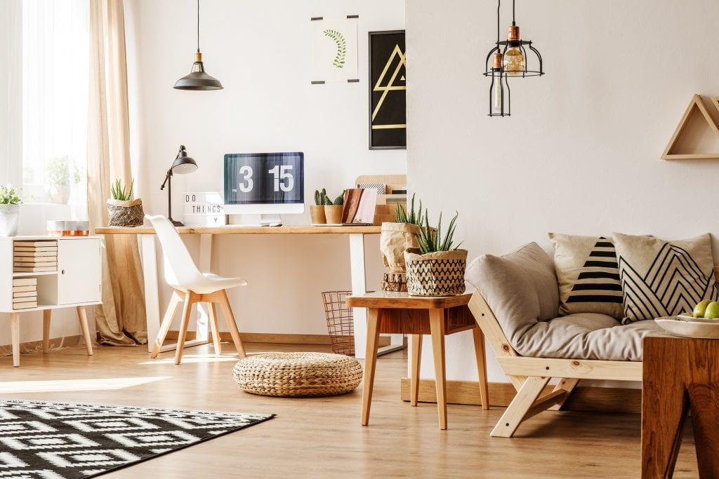 Earthy natural colours help make your home a more calming environment