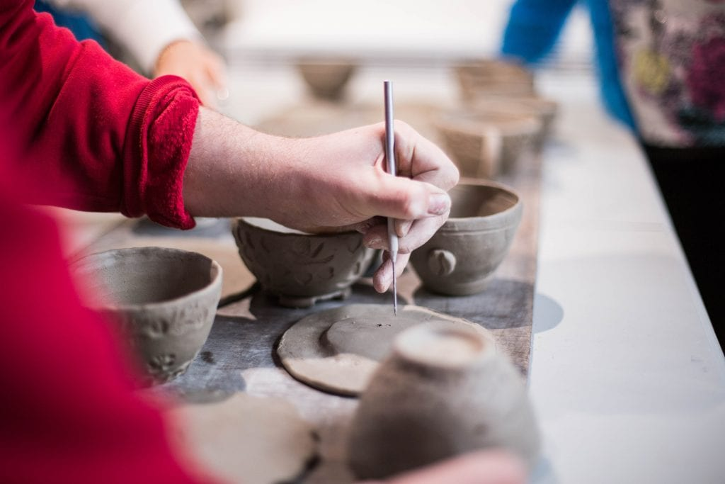 Pottery for Valentine's Day