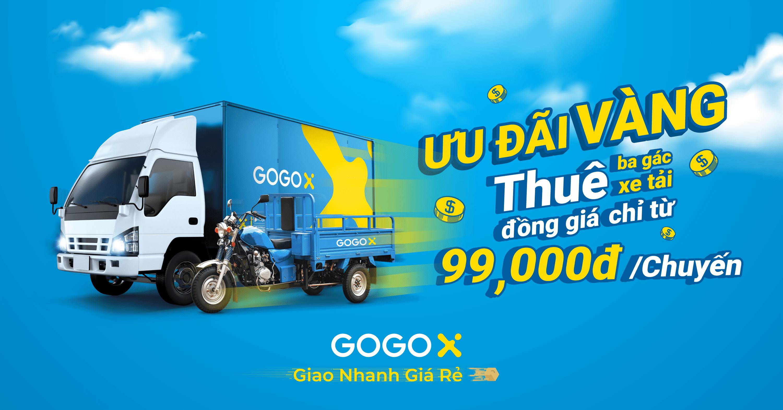 Khuyến mãi giao hàng khi thuê xe ba gác giá rẻ Hồ Chí Minh GOGOX