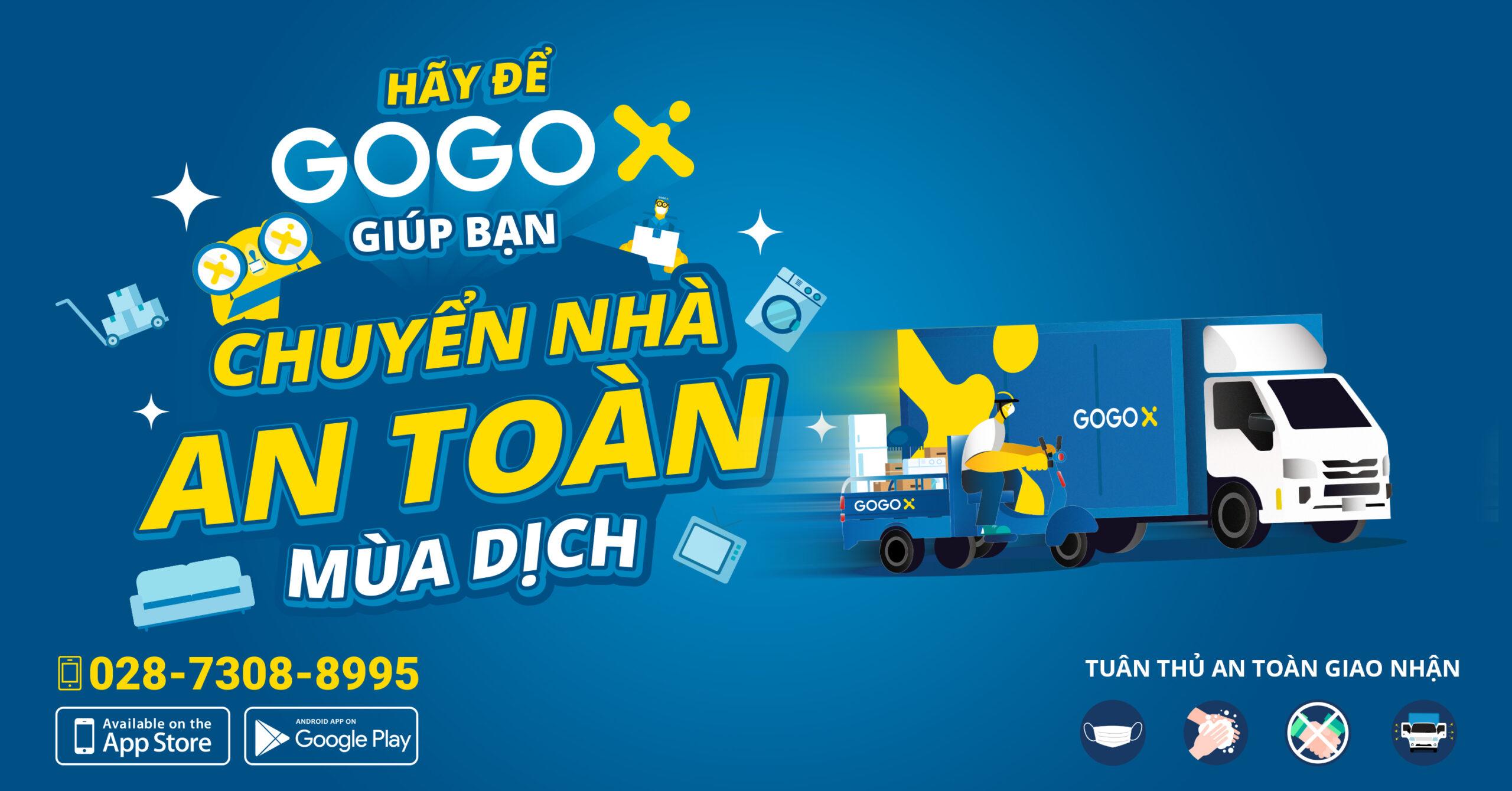 Thuê xe ba gác, xe tải chuyển nhà giá rẻ GOGOX