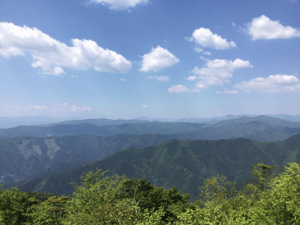 大岳より南側遠景