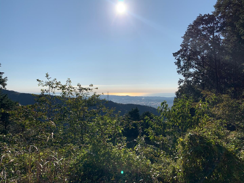 見晴茶屋前からの景色