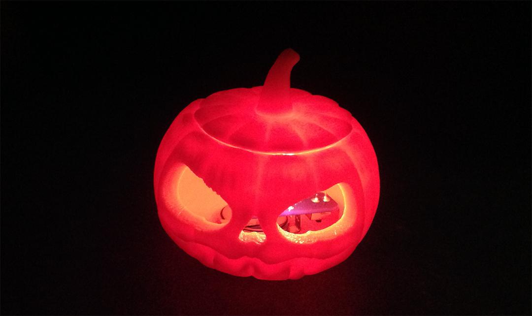 3Dプリンタでかぼちゃのミニランプをつくろう!