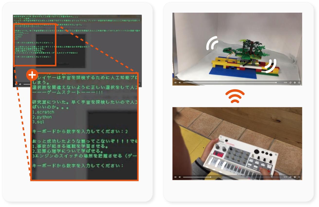 ナイスアイデア賞:「東京ジャングルモノレール」and 「宇宙探索AI開発ゲーム」