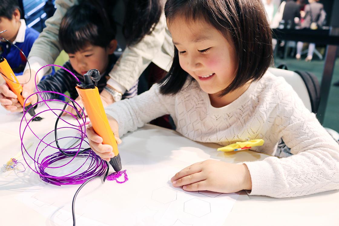 3Dペンやプログラミングを体験できるワークショップコーナー