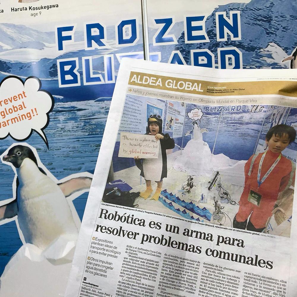 コスタリカへ!地元新聞1面を飾り、ブース注目度はNo.1!