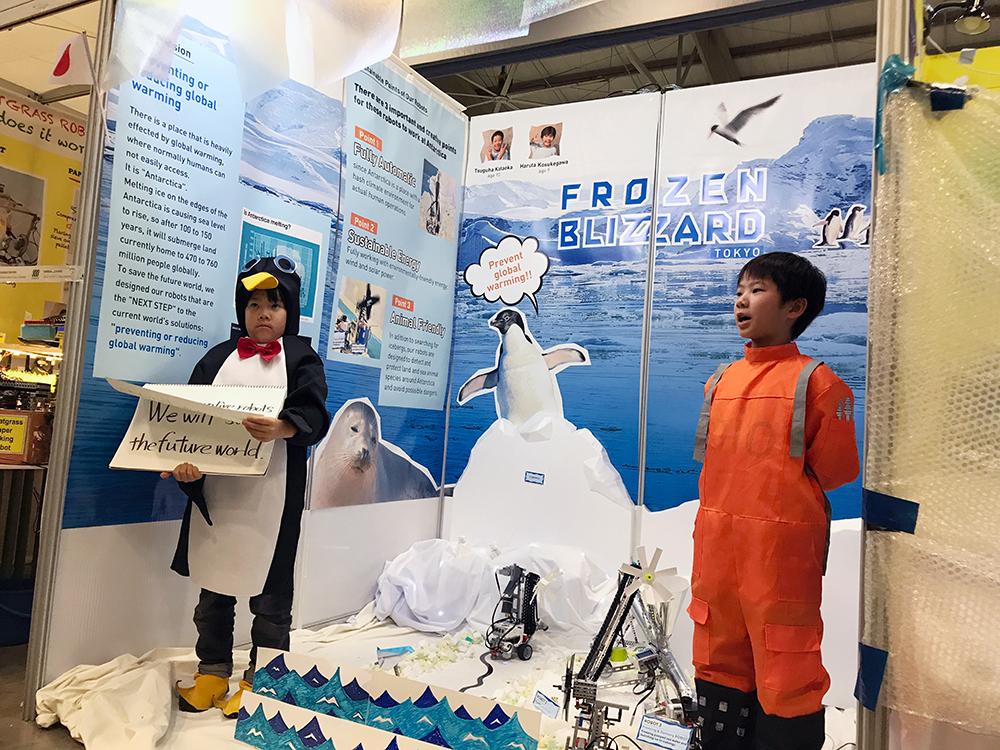 ロボット世界大会で、世界7位になった小学生コンビ!