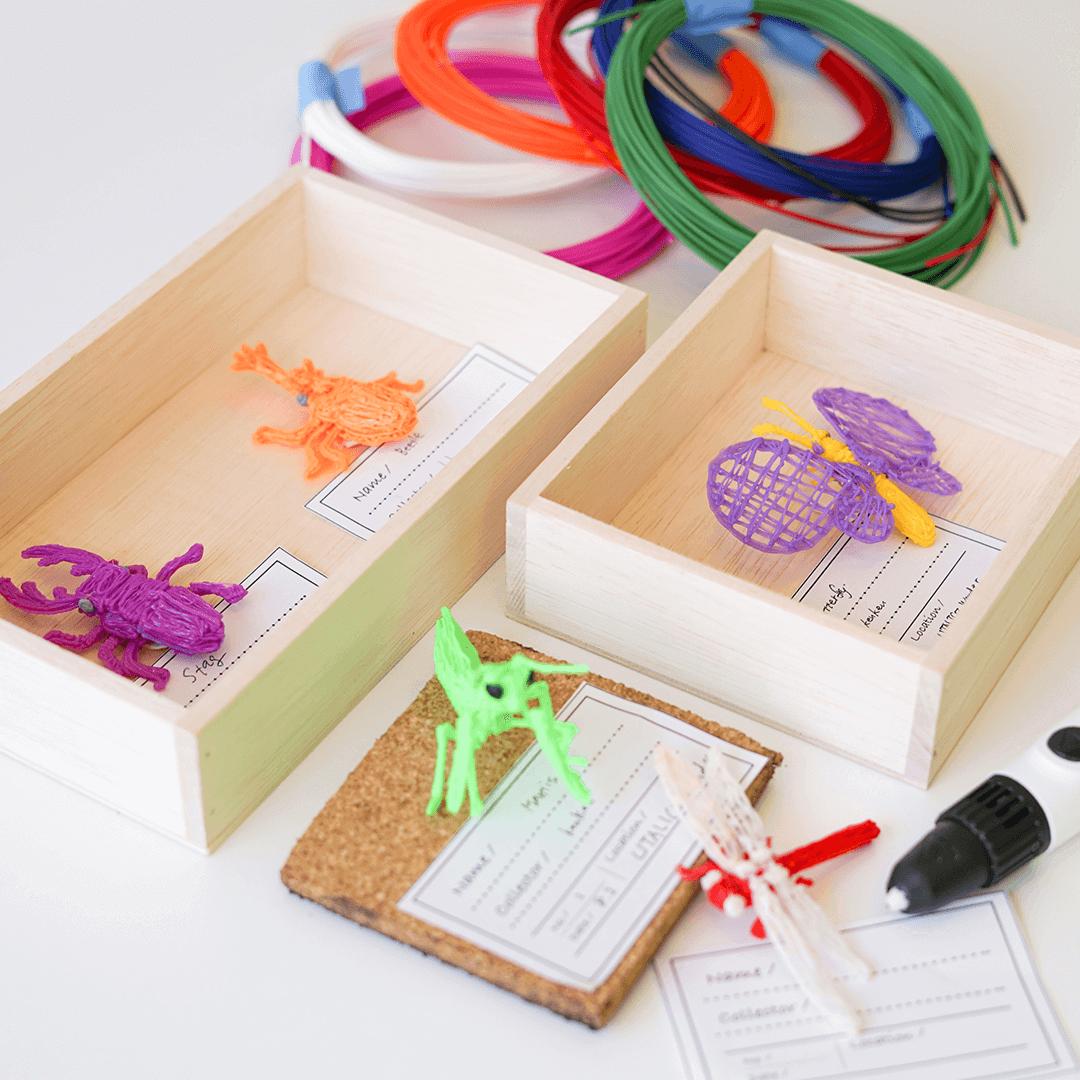 1.3Dペンでオリジナル昆虫標本をつくろう!