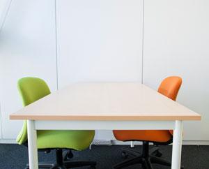 面接練習や面談などで使用する個室です。