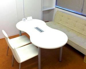 個室は、面談や 面接練習などで使用します。