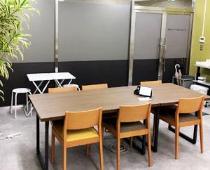 みんなでお弁当を食べたり、休憩時間を過ごしたりできるフリースペースです。