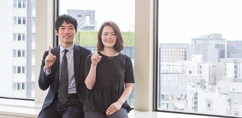 人事本部 オフィスサポートセンターグループ 山本 様(左)/齊藤 様(右)