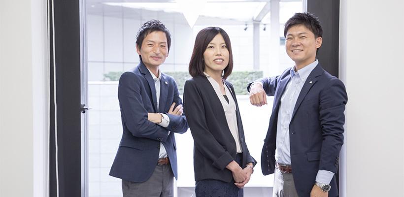 セントスタッフ株式会社  中川 様(左)・野尻 様(中央)・大類 様(右)